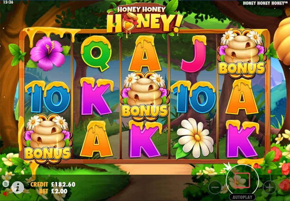 Honey Honey Honey Slot - Bonus Trigger