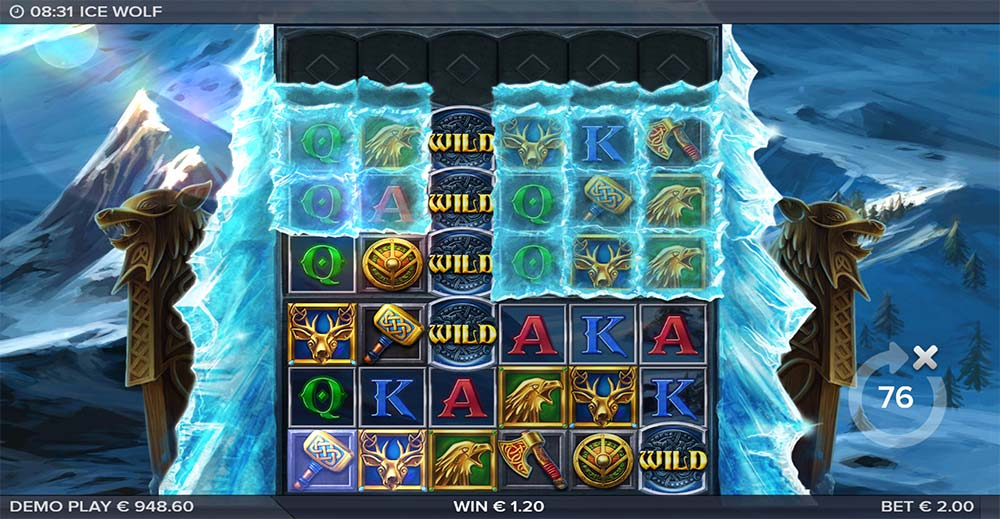 Ice Wolf Slot - Added Wilds Feature