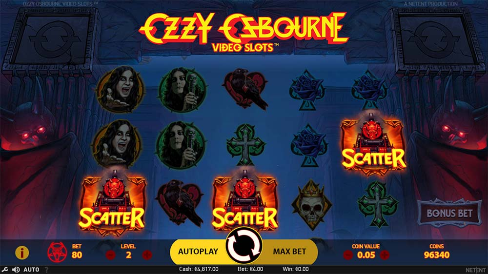 Ozzy Osbourne Video Slots - Bonus Triggered