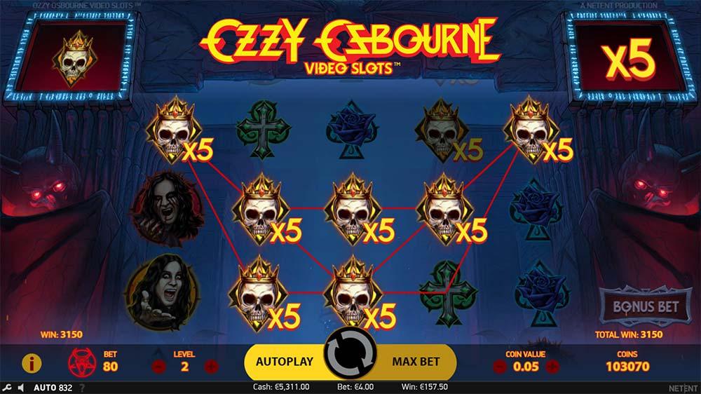 Ozzy Osbourne Video Slots - Symbol Charge Up
