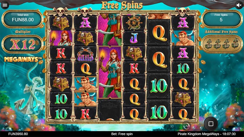 Pirate Kingdom Megaways Slot - Bonus Re-Trigger