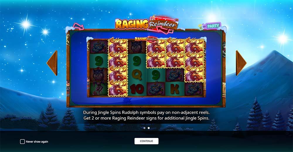 Raging Reindeer Slot - Intro Screen