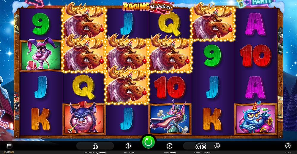 Raging Reindeer Slot - Base Game