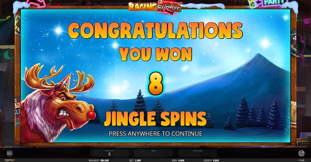 Raging Reindeer Slot - Free Spins Start