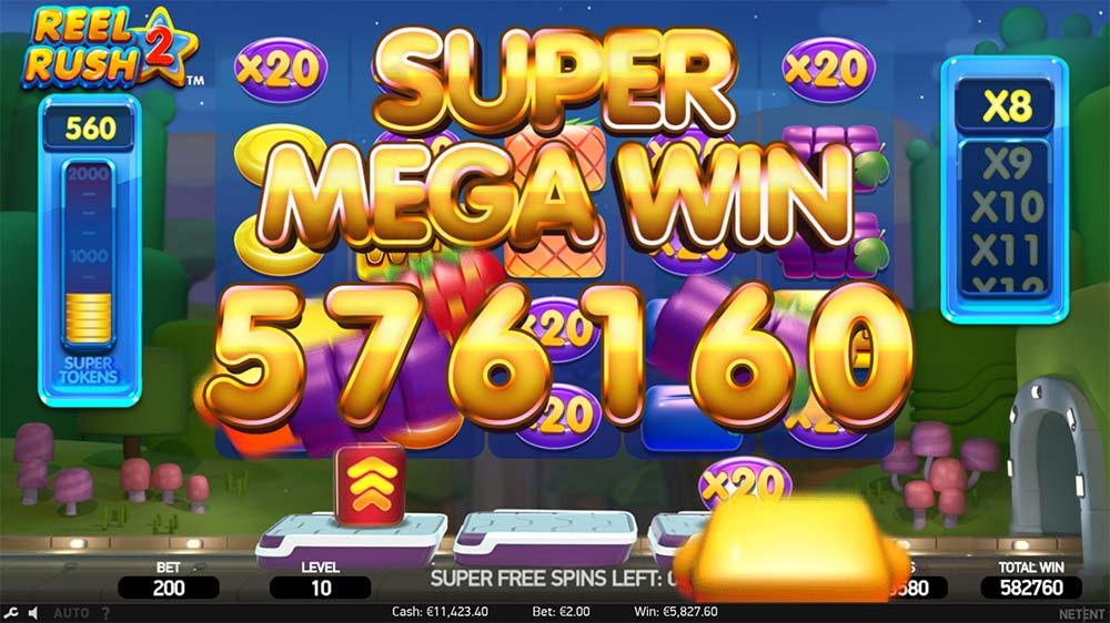 Reel Rush 2 Slot - Super Mega Win