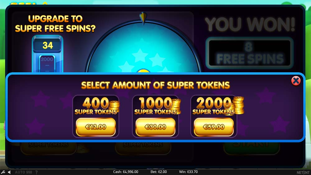 Reel Rush 2 Slot - Super Token Buy Option