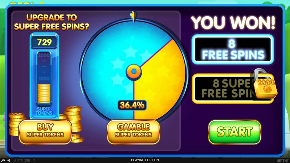 Reel Rush 2 Slot - Bonus Gamble Options