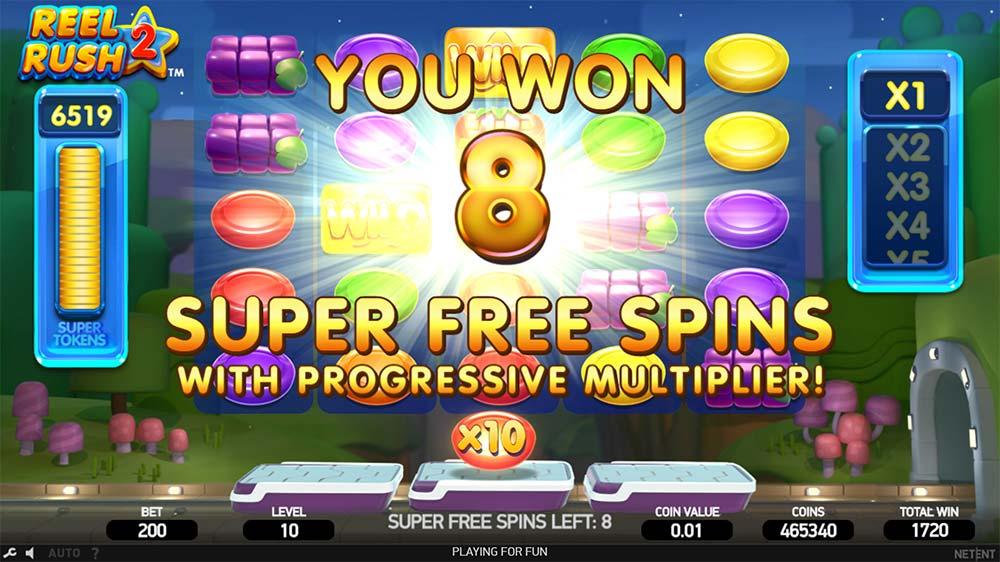 Reel Rush 2 Slot - Super Free Spins