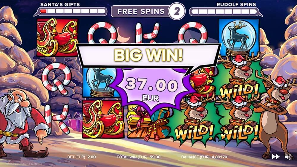 Santa vs Rudolf Slot - Big Win