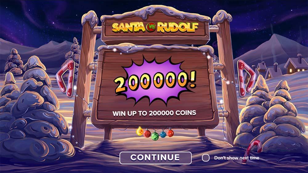 Santa vs Rudolf Slot - Intro Screen