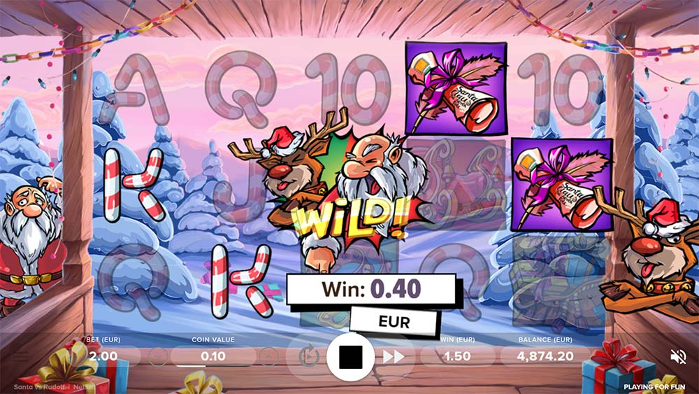 Santa vs Rudolf Slot - Bonus Trigger (Wilds Collide)