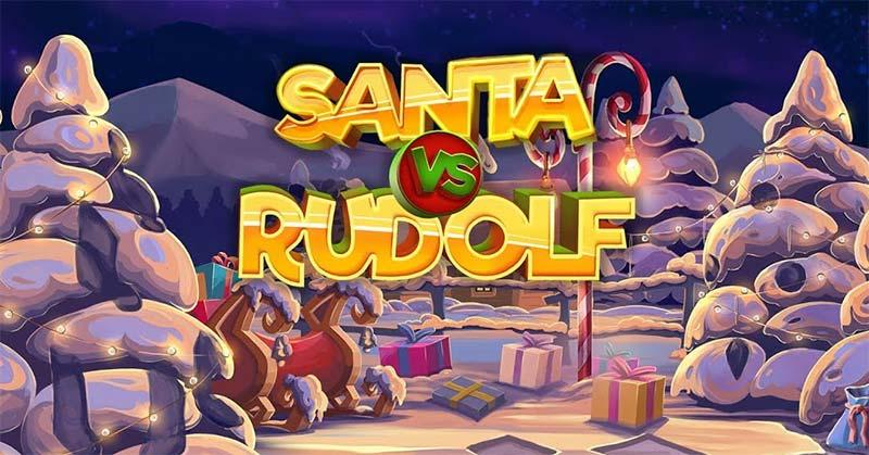 Santa vs Rudolph Slot Logo