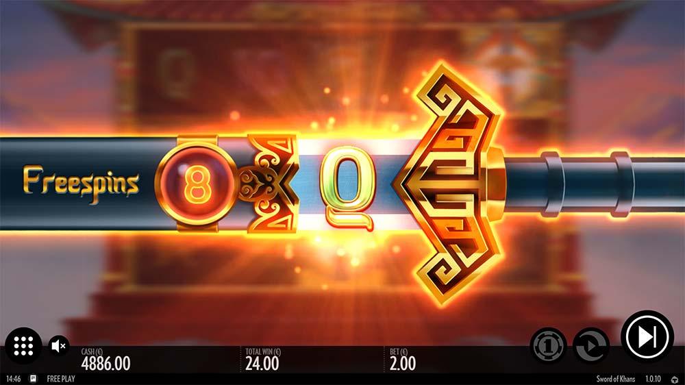 Sword of Khans Slot - Bonus Spins and Symbol awarded