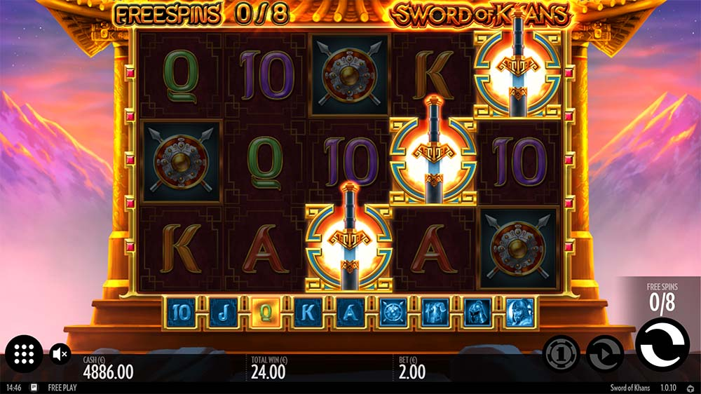 Sword of Khans Slot - Bonus Triggered