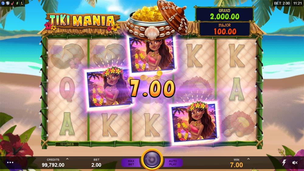 Tiki Mania Slot - Bonus Trigger