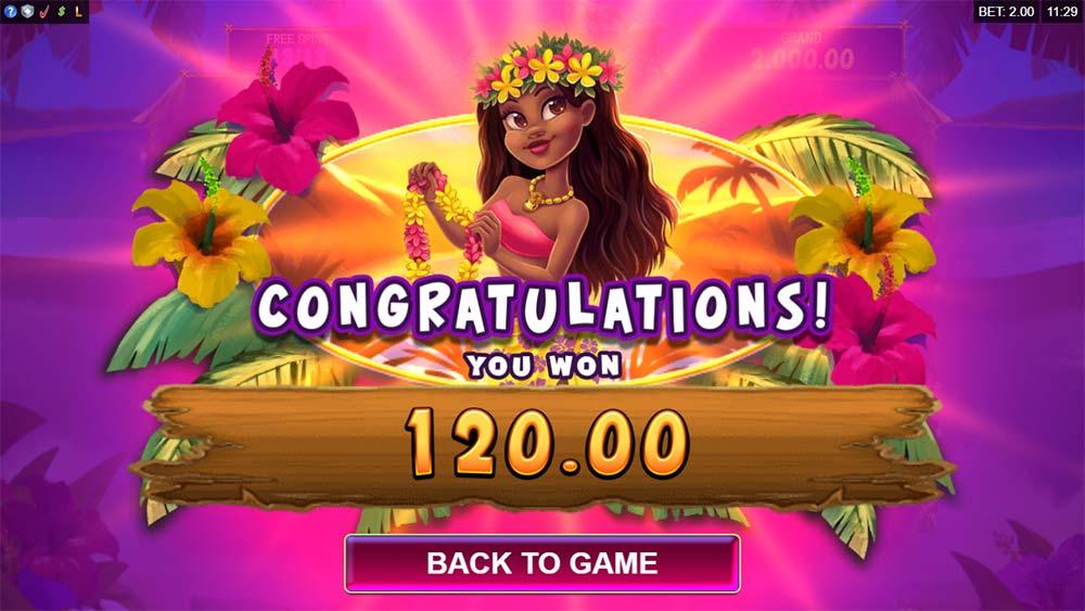 Tiki Mania Slot - Bonus End