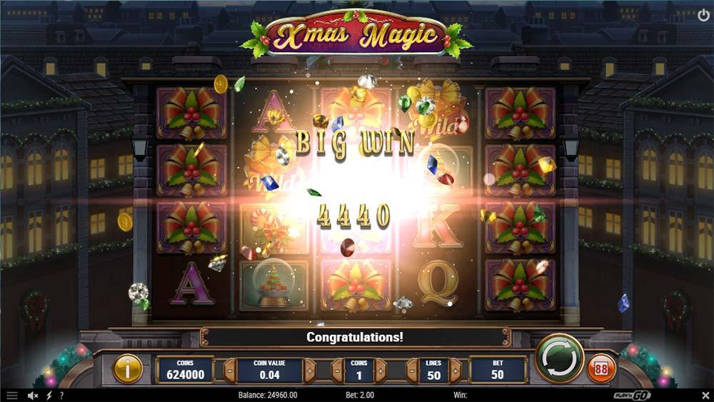 Xmas Magic Slot - Big Win Base Game
