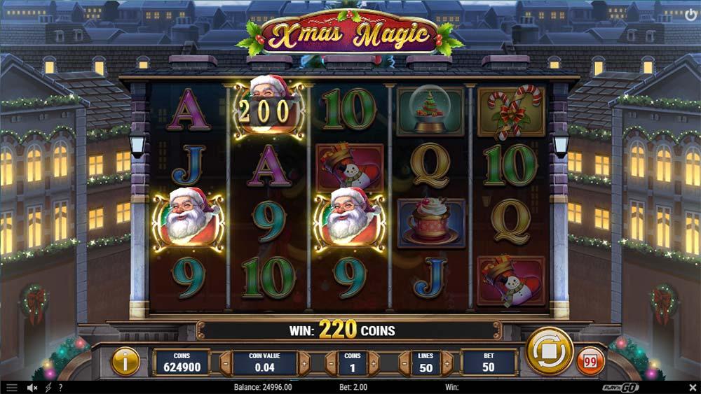 Xmas Magic Slot - Bonus Trigger