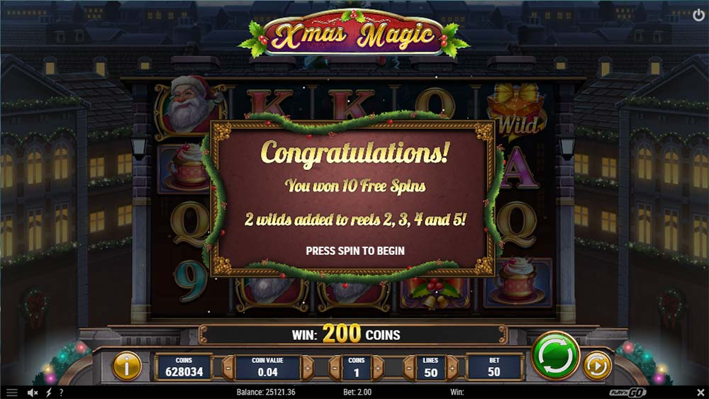 Xmas Magic Slot - Free Spins Start