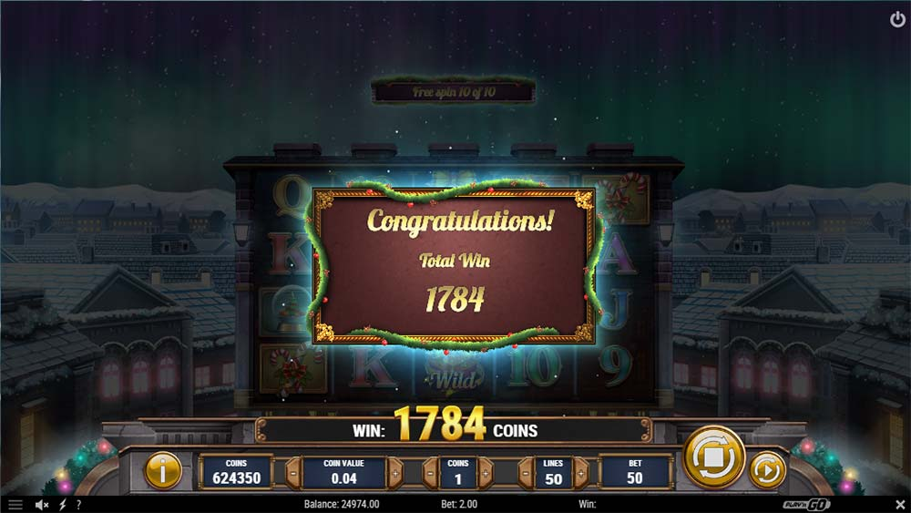 Xmas Magic Slot - Bonus End