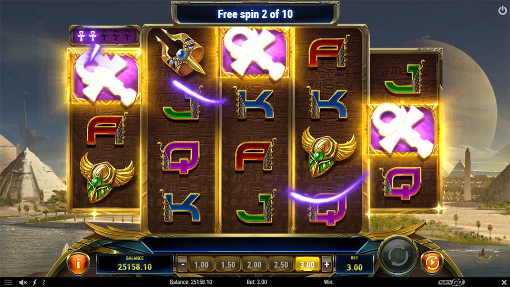Ankh of Anubis Slot - Symbol Collection Feature
