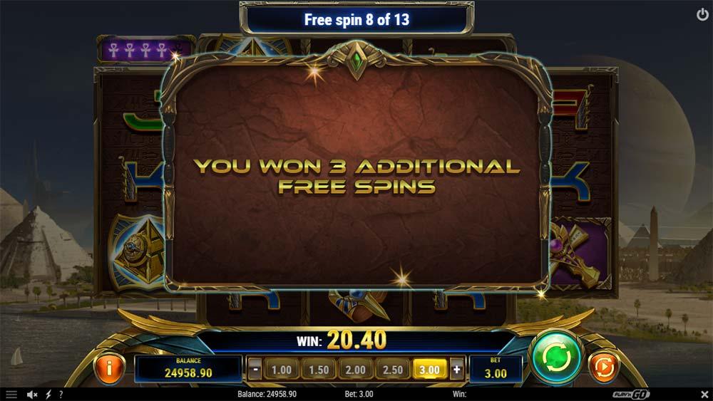 Ankh of Anubis Slot - Bonus Re-Trigger