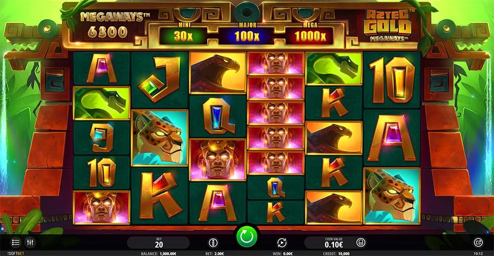 Aztec Gold Megaways Slot - Base Game
