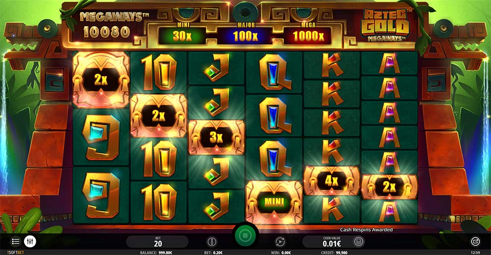Aztec Gold Megaways Slot - Bonus Trigger