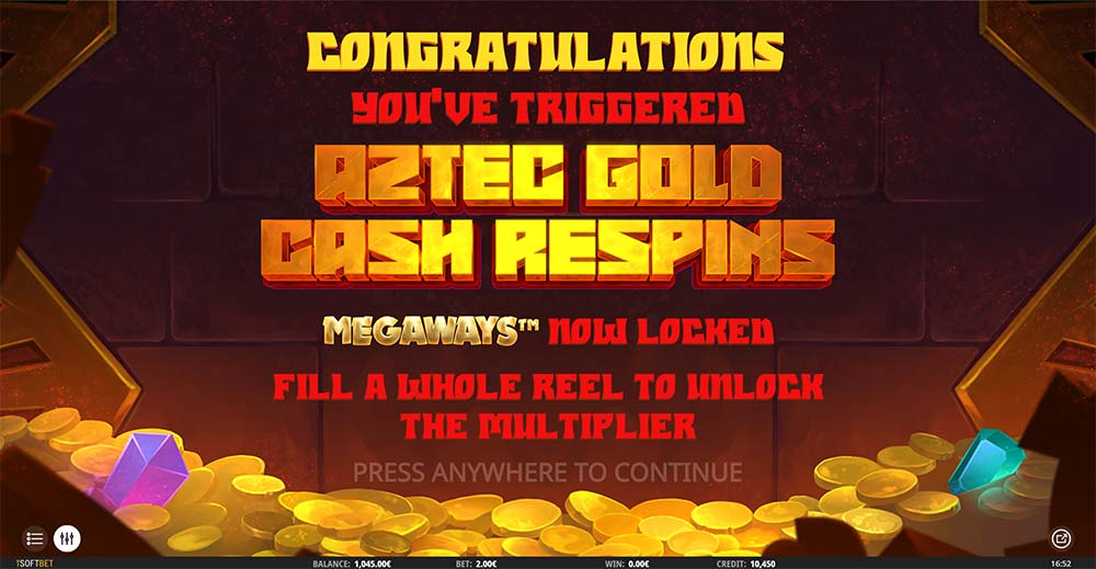 Aztec Gold Megaways Slot - Bonus Start