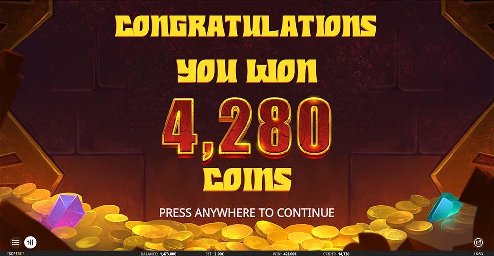 Aztec Gold Megaways Slot - Bonus End