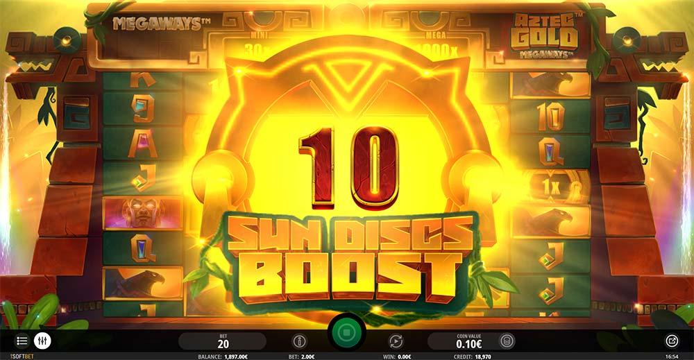 Aztec Gold Megaways Slot - Sun Discs Boost Feature