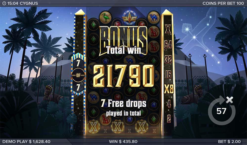 Cygnus Slot - Bonus End