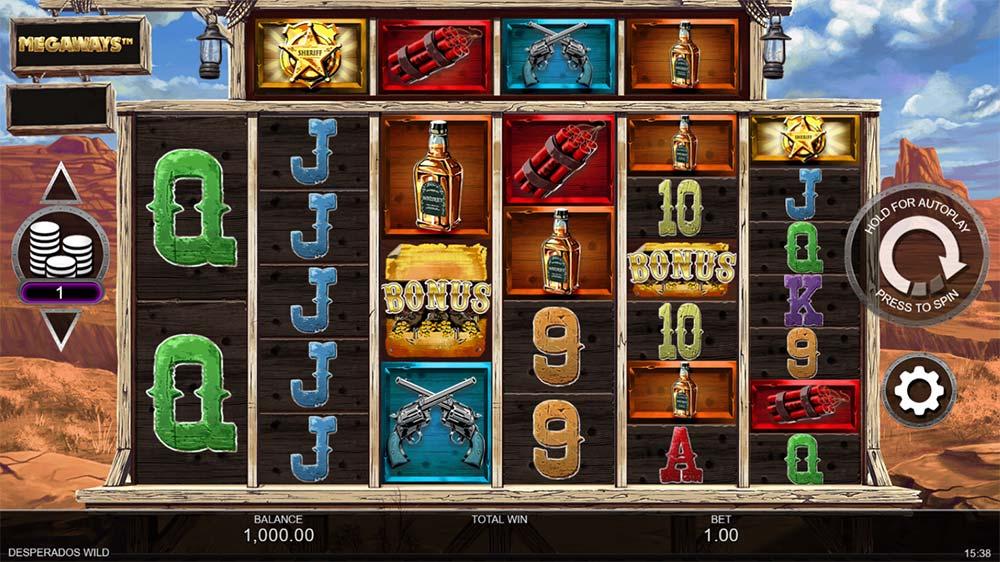 Desperados Wild Megaways Slot - Base Game