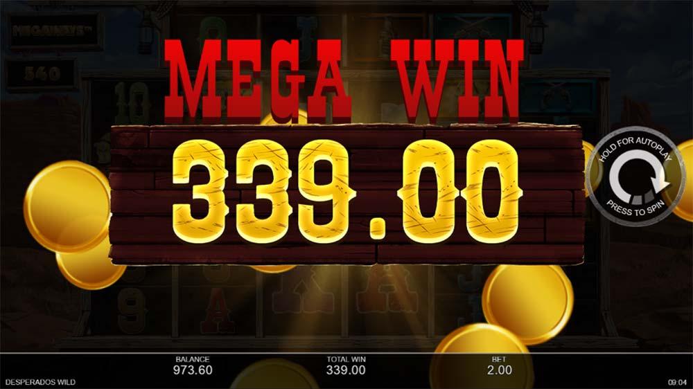 Desperados Wild Megaways Slot - Mega Win