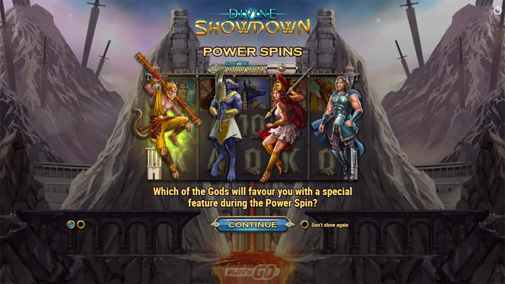 Divine Showdown Slot - Intro Screen