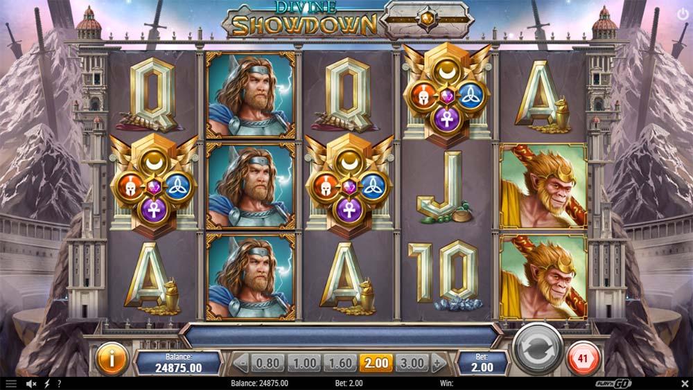 Divine Showdown Slot - Bonus Trigger