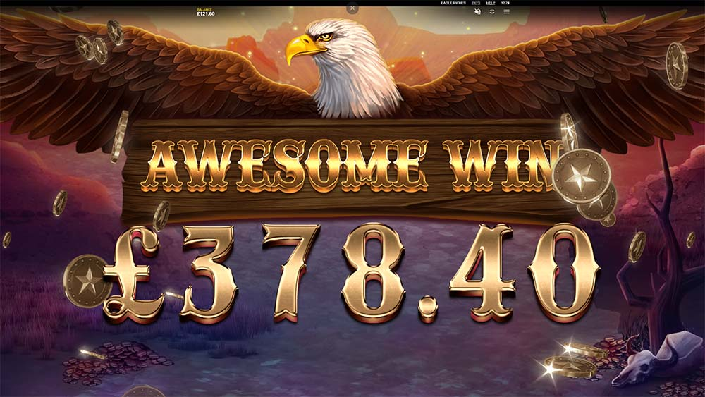 Eagle Riches Slot - Awesome Win