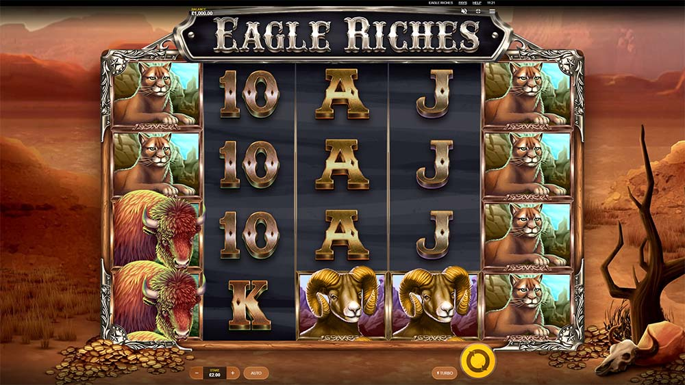 Eagle Riches Slot - Base Game