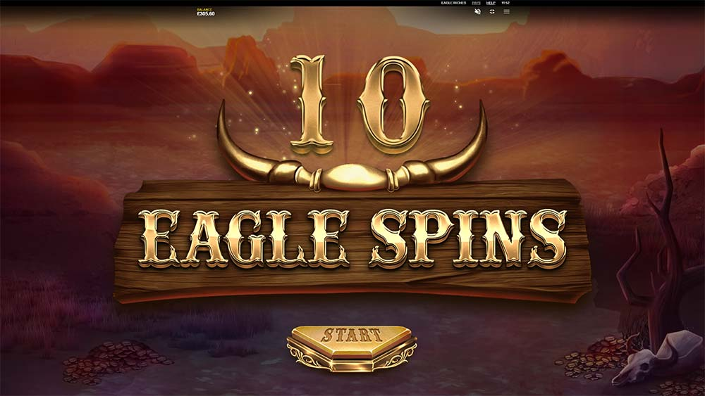 Eagle Riches Slot - Free Spins Start