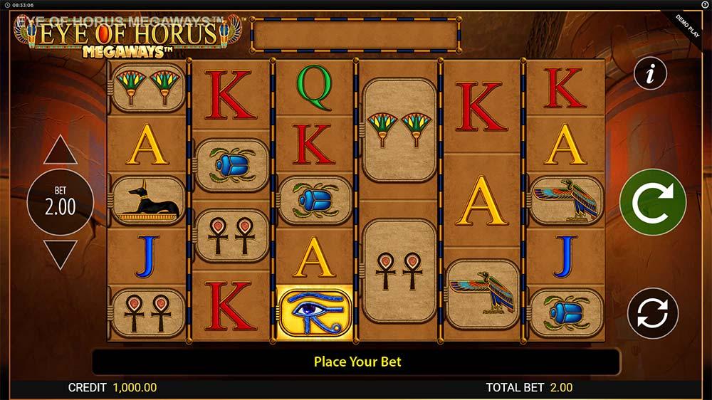 Eye of Horus Megaways Slot - Base Game