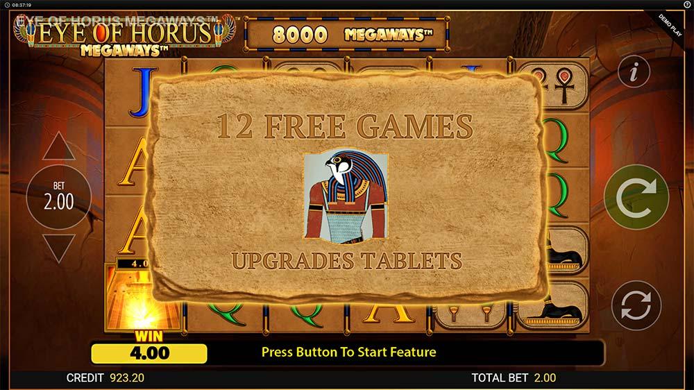 Eye of Horus Megaways Slot - Bonus Triggered