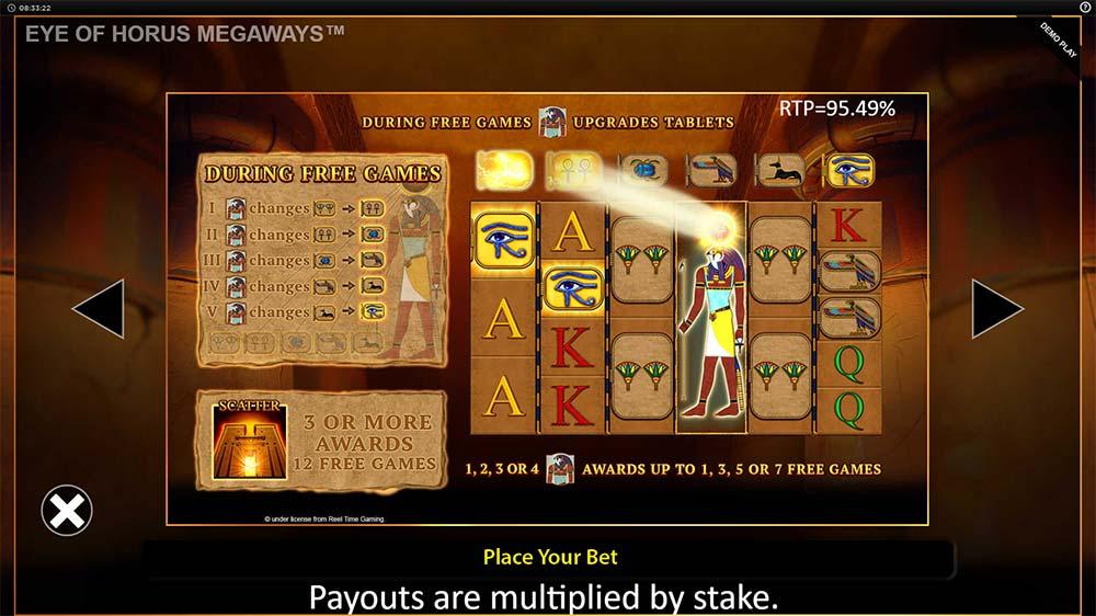 Eye of Horus Megaways Slot - Bonus Feature