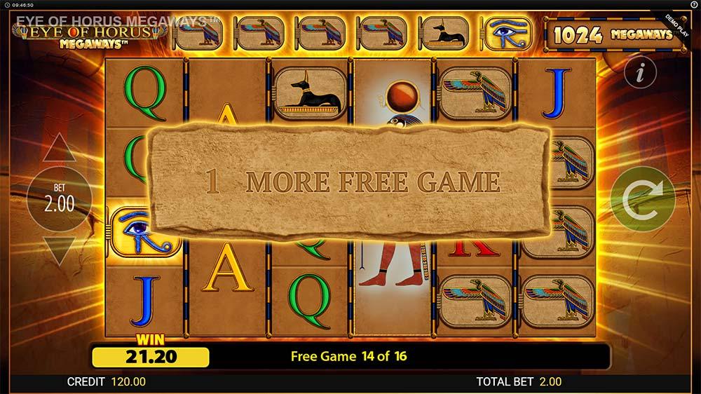 Eye of Horus Megaways Slot - Symbol Upgrade
