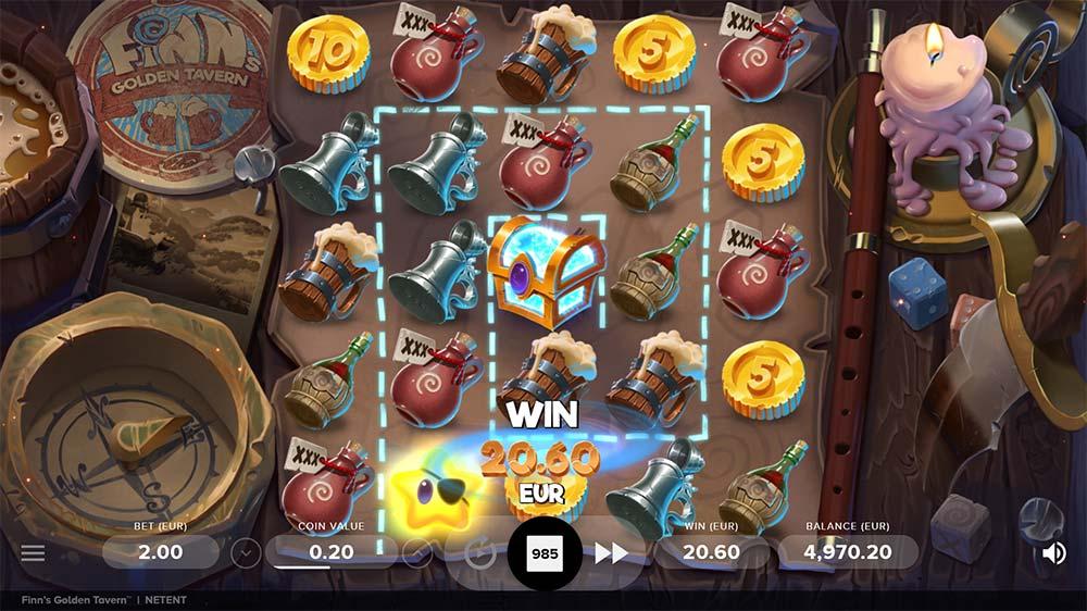 Finn's Golden Tavern Slot - Bonus Trigger
