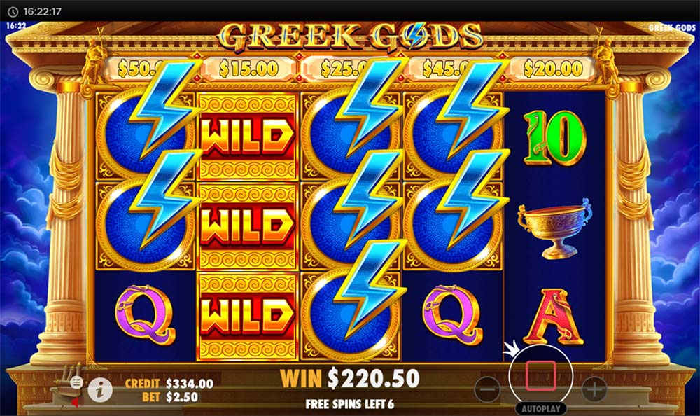 Greek Gods Slot - Bonus Re-Trigger