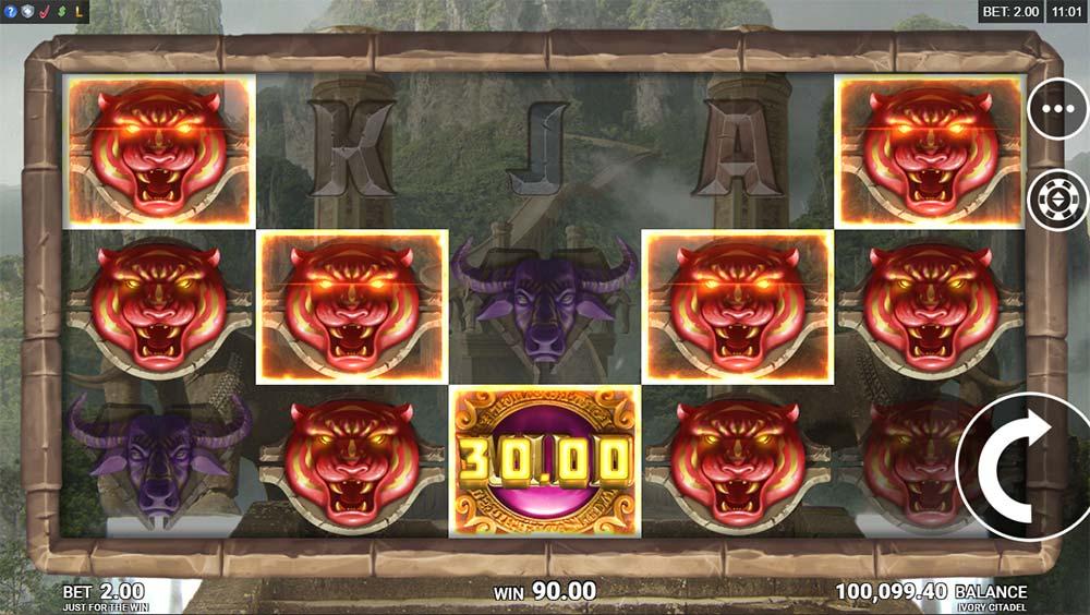 Ivory Citadel Slot - Base Game Win