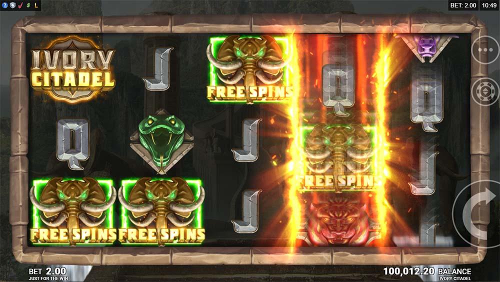Ivory Citadel Slot - Bonus Trigger / Tease