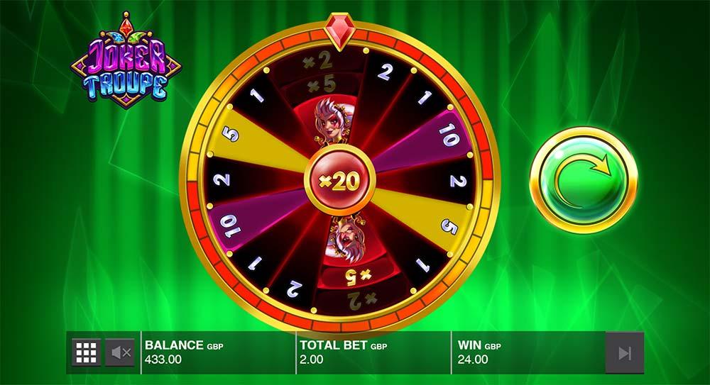 Joker Troupe Slot - Green Joker Wheel