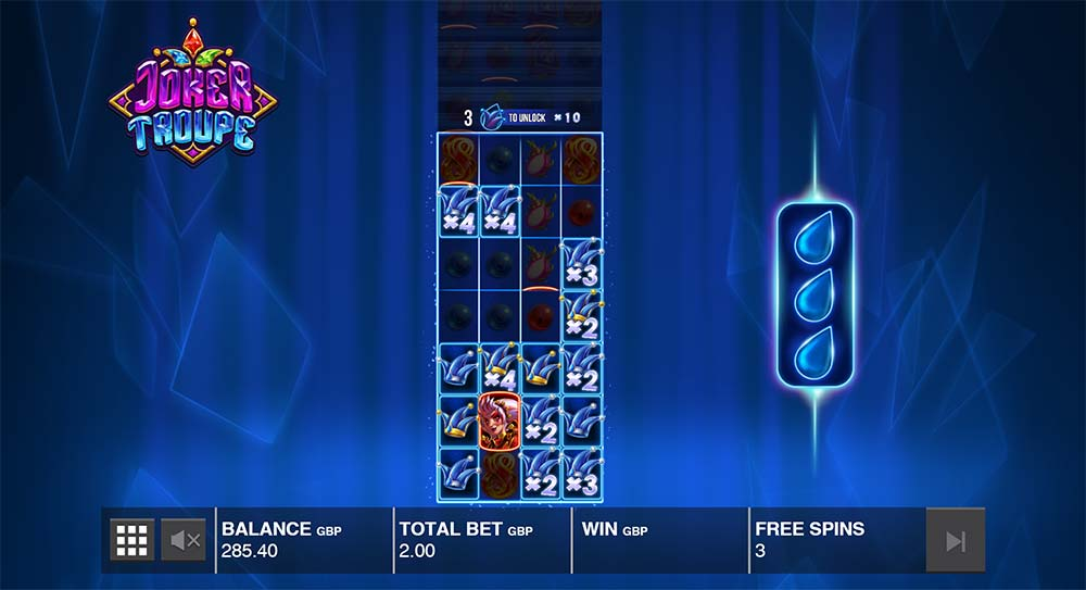 Joker Troupe Slot - Blue Joker Feature