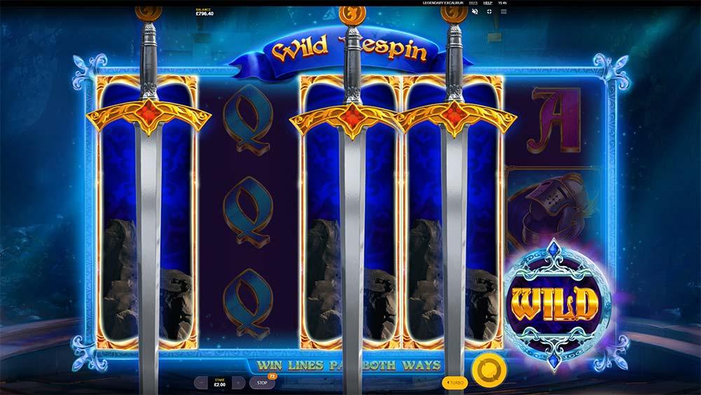 Legendary Excalibur Slot - 3 Wild Reels